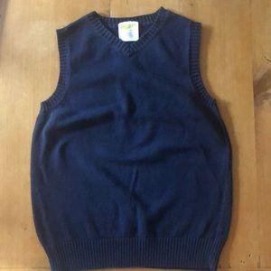 Boys Navy Sweater Vest Size Small
